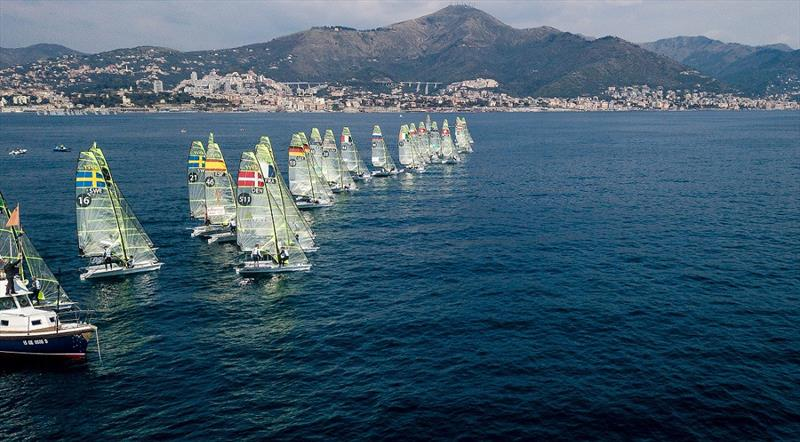 49er start - Genoa World Cup Series 2019 - photo © Sailing Energy