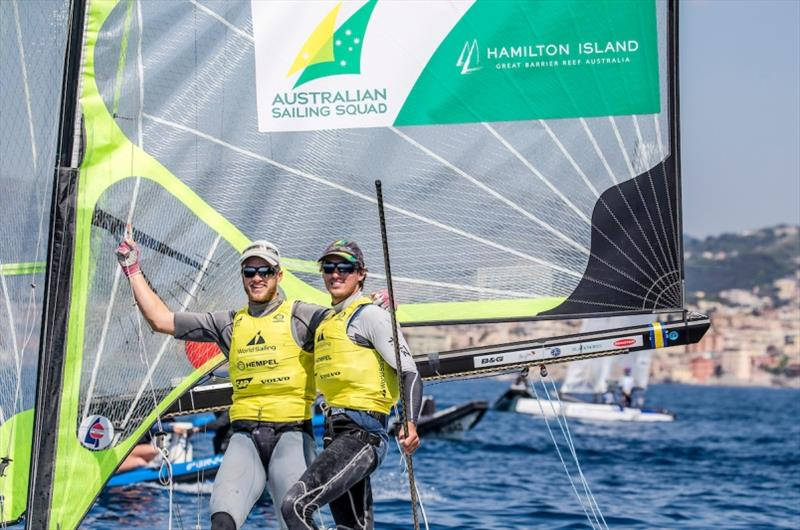 Australian brothers David and Lachy Gilmour - Hempel World Cup Series Genoa - photo © Jesus Renedo / Sailing Energy / World Sailing