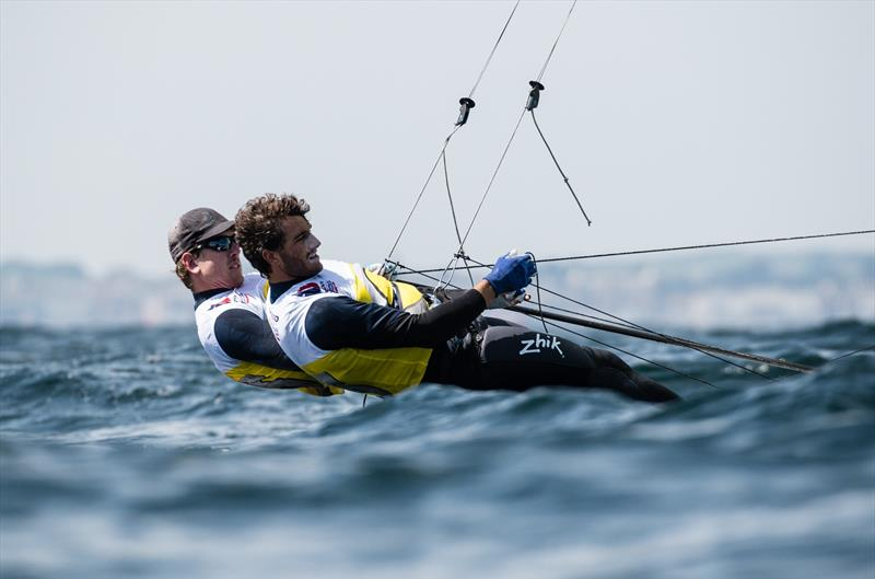Peter Burling and Blair Tuke (NZL) - 49er European Championship - Weymouth - Day 3 - photo © Drew Malcolm