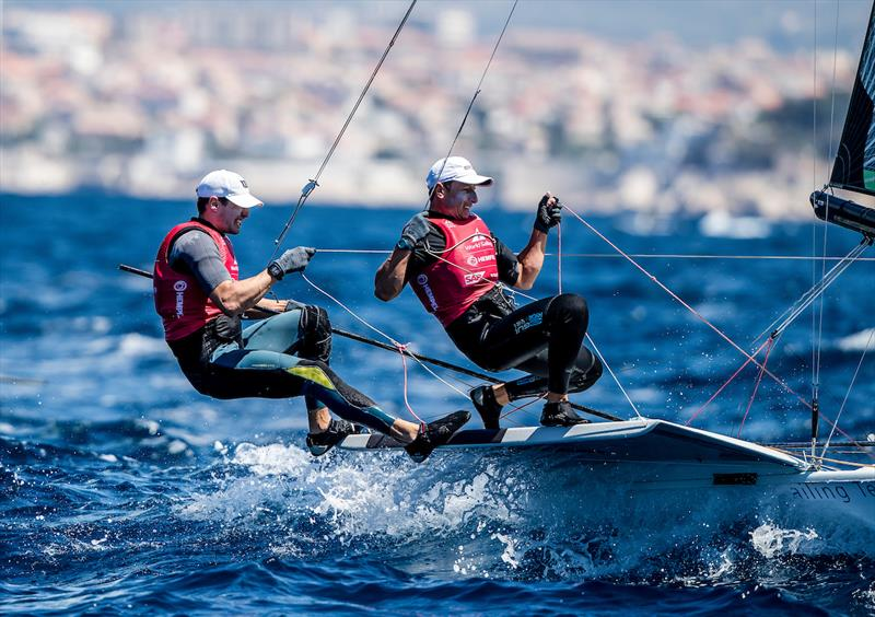 Uberto Crivelli Visconti and Gianmarco Togni (ITA) on day 3 of the Hempel World Cup Series Final in Marseille - photo © Sailing Energy / World Sailing