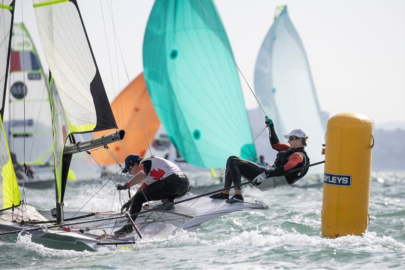 Day 1, 49er World Championships presented by Hyundai - December 3, 2019, Auckland NZ - photo © Matias Capizzano