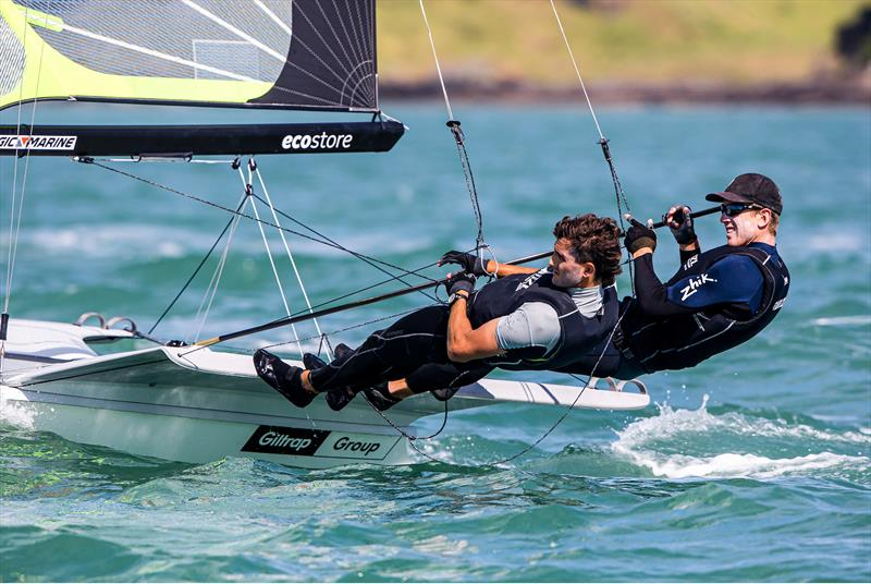 Day 1, 49er World Championships presented by Hyundai - December 3, 2019, Auckland NZ - photo © Jesus Renedo / Sailing Energy