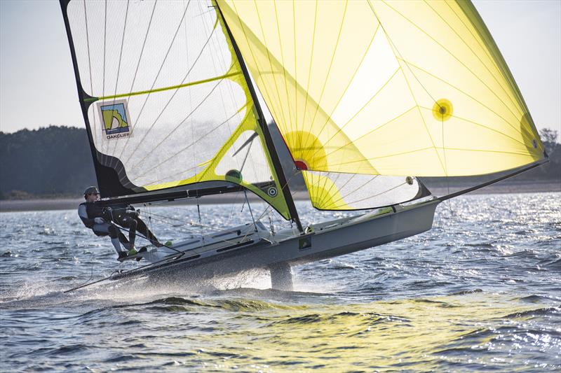 Oakcliff sailors put their 49er through its paces - photo © Image courtesy of Oakcliff Sailing Center