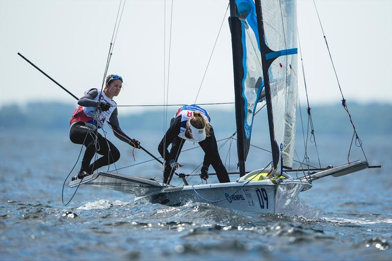 Sophie Weguelin and Sophie Ainsworth at 2018 World Championships Aarhus - photo © Sailing Energy / World Sailing