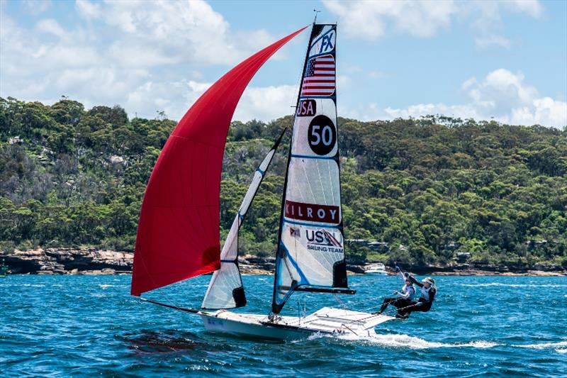 49erFX - Stephanie Hoble and Margaret Shea supported by the Kilroy family, Day 3 - Sail Sydney - photo © Beau Outteridge