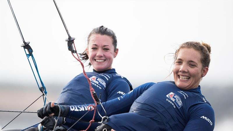 49erFX crew Sophie Weguelin and Sophie Ainsworth - photo © Lloyd Images