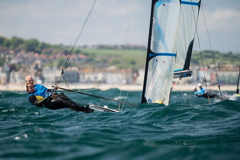Vilma Bobeck and Malin Tengstrom - 2019 Volvo 49er, 49erFX and Nacra 17 European Championships - photo © Drew Malcolm