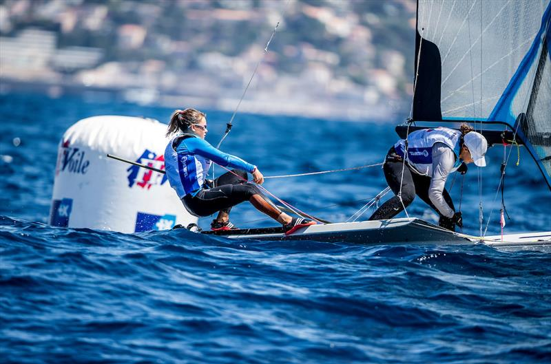Mathilde Lovadina and Pernet Lea (FRA) on day 3 of the Hempel World Cup Series Final in Marseille - photo © Sailing Energy / World Sailing