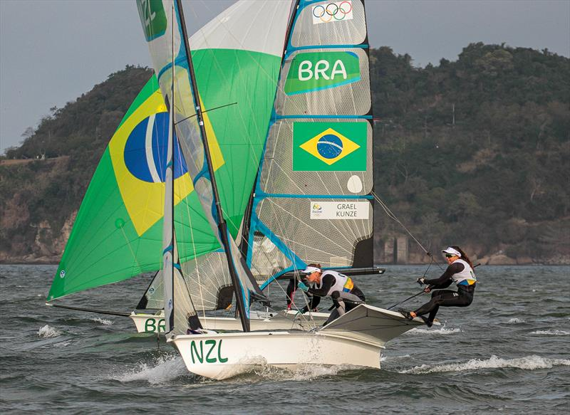 Mackay Boats built the top three boats in the 49erFX at the Rio Olympic Sailing Regatta - photo © Richard Gladwell