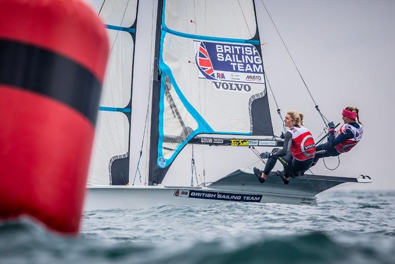 Charlotte Dobson and Saskia Tidey - photo © Nick Dempsey / RYA