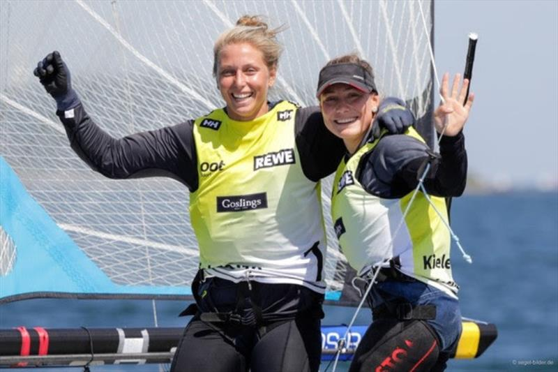 Victoria Jurczok/Anika Lorenz (VSaW) could make the fight for the 49erFX Olympic ticket exciting by defending their title in Kiel. - photo © www.segel-bilder.de