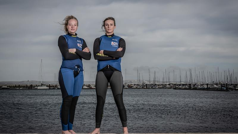 Megan Brickwood and Steph Orton - photo © Nick Dempsey / RYA