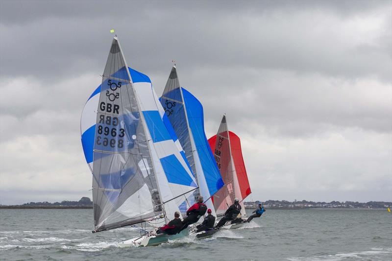 America's Cup style reaching start on day 2 for the 505s at Stone - photo © Tim Olin / www.olinphoto.co.uk