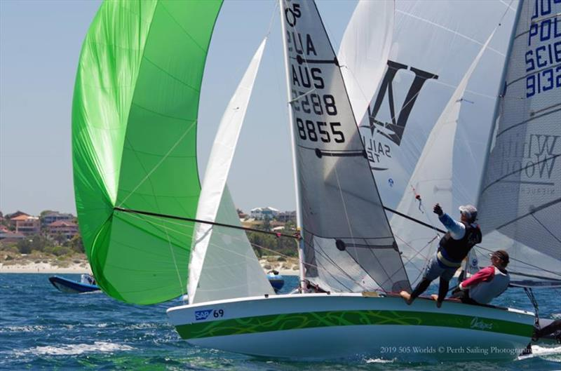 Final day of the 505 World Championship in Fremantle - photo © Rick Steuart / Perth Sailing Photography