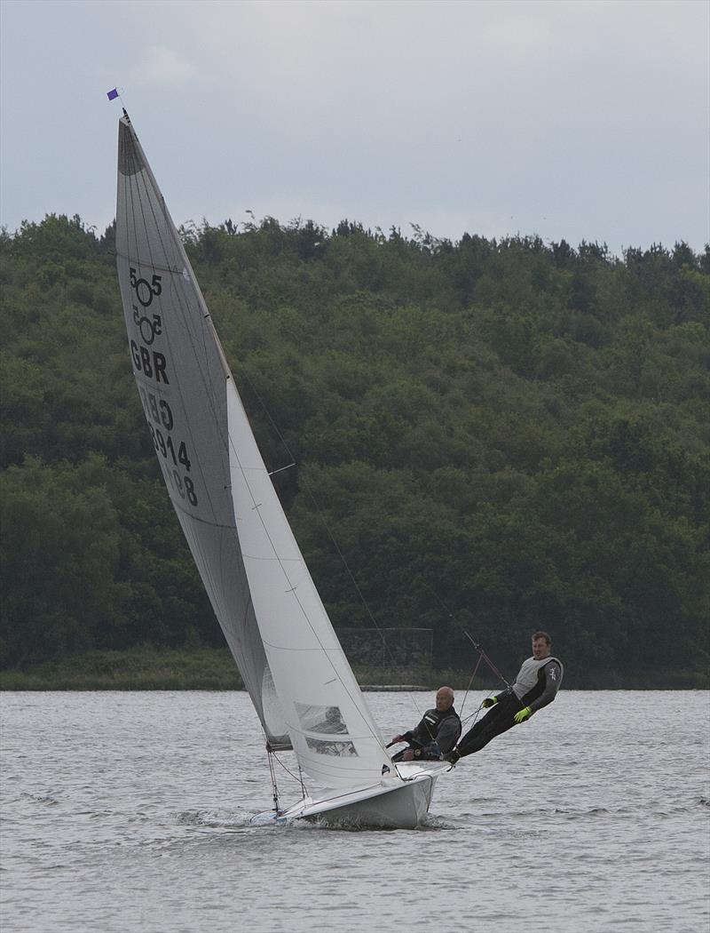 Burton SC's Tim Bird & Tom Hooton (505) during the Tripartite Cup 2019 photo copyright David Bell taken at Staunton Harold Sailing Club and featuring the 505 class