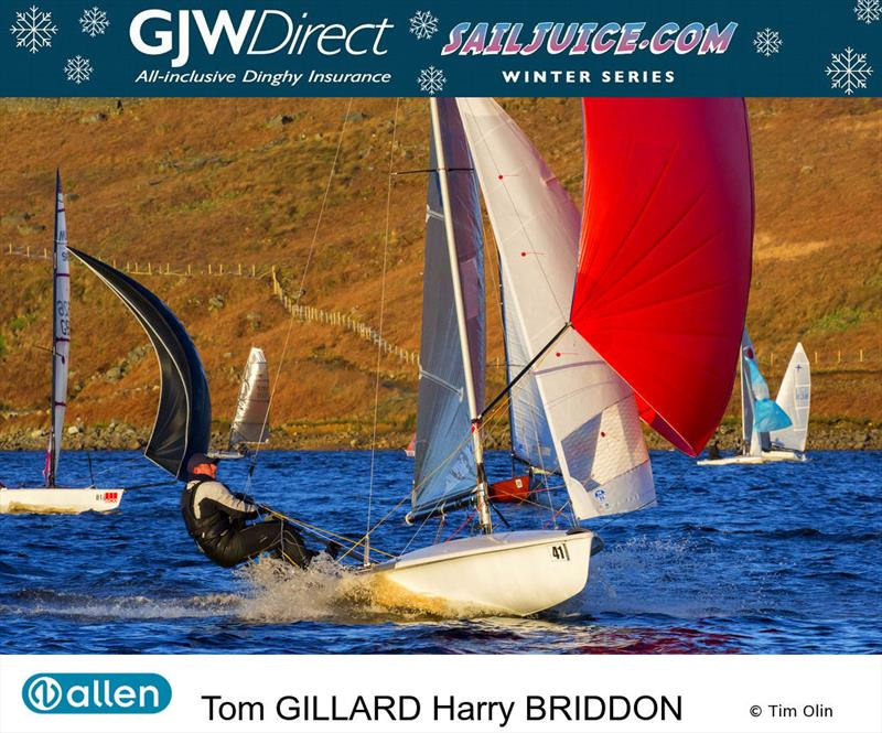 Tom Gillard at the Yorkshire Dales Brass Monkey 2017 photo copyright Tim Olin / www.olinphoto.co.uk taken at Yorkshire Dales Sailing Club and featuring the 505 class