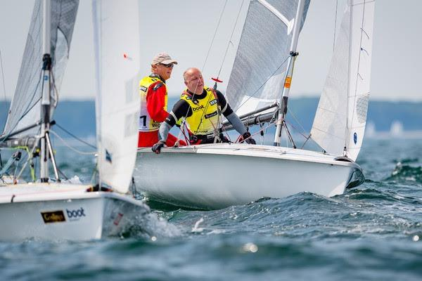 Five time 505 world champion Wolfgang Hunger wins his 22nd title at Kiel Week with his crew Holger Jess photo copyright Kiel Week / Sascha Klahn taken at Kieler Yacht Club and featuring the 505 class
