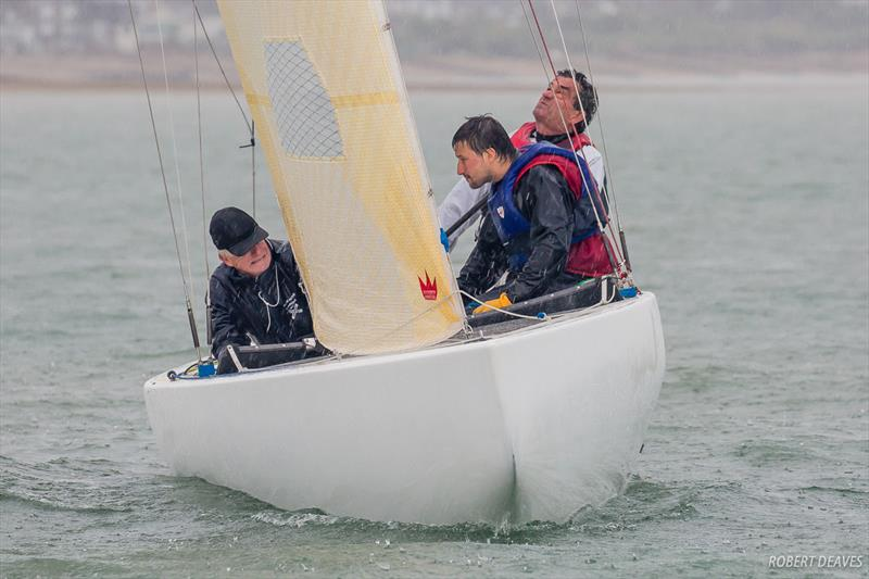 A wet day in Cowes on day 2 of the Scandinavian Gold Cup 2018 - photo © Robert Deaves