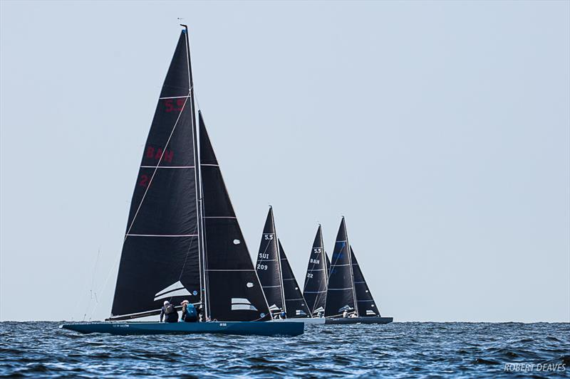 Tight racing in Race 4 - 5.5 Metre World Championship 2019 in Helsinki - photo © Robert Deaves