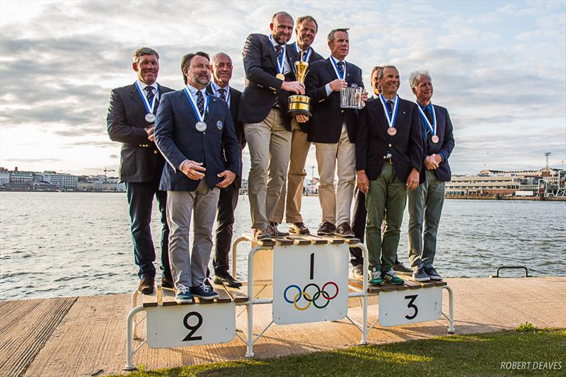 Prizegiving on Friday evening - 5.5 Metre World Championship 2019 in Helsinki - Day 5 - photo © Robert Deaves