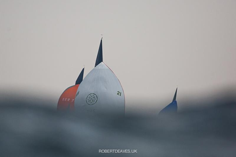 Big waves on Day 4 - 2020 International 5.5 Metre World Championship - photo © Robert Deaves