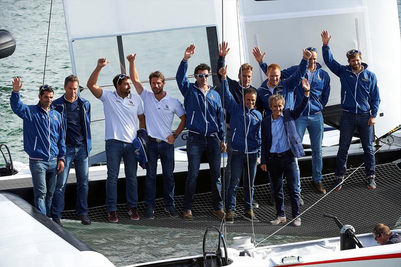 Groupama Team France lifts the veil on its Test AC Class yacht - photo © Eloi Stichelbaut