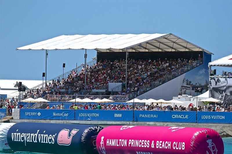 Fans pack the stands - 35th America's Cup Match - Race 3 - Bermuda June 18, 2017 - photo © Richard Gladwell