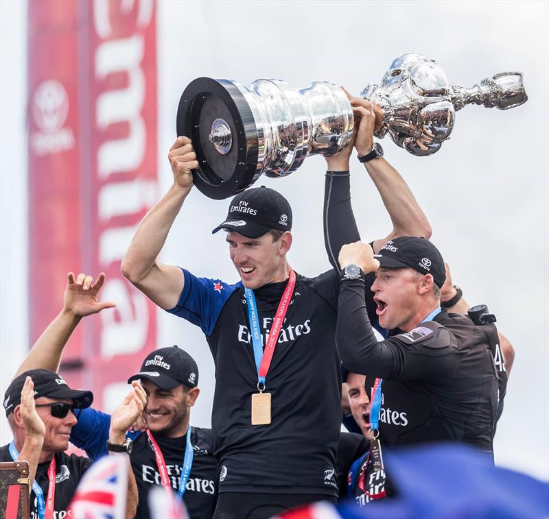 Emirates Team New Zealand get their hands back on the America' s Cup - Bermuda, June 26, 2017 photo copyright Emirates Team New Zealand taken at  and featuring the AC50 class
