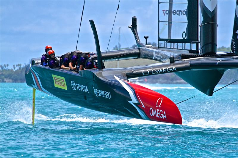 An America's Cup in Auckland with potentially 12 teams is double the size of the AC fleet in Bermuda photo copyright Richard Gladwell taken at Royal Bermuda Yacht Club and featuring the AC50 class