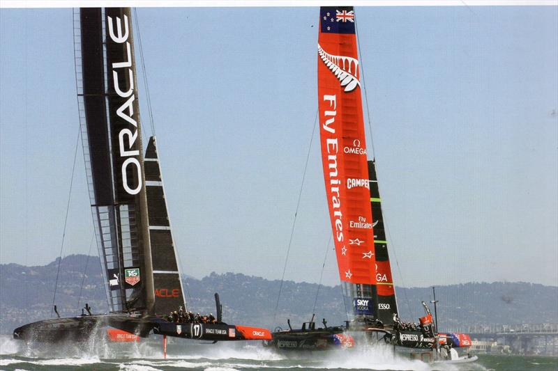 Although the Kiwis weren't the first at foiling, their focused approach quickly made it a technique that was perfect for the America's Cup, as for the first time sailing suddenly became televisual - photo © Richard Gladwell