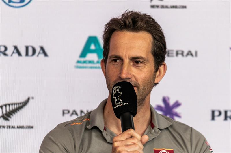 Ben Ainslie at the opening press conference for the PRADA Cup - photo © C Gregory / INEOS TEAM UK