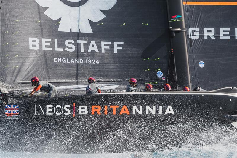 BRITANNIA during official practice racing ahead of the PRADA Cup - photo © C Gregory / INEOS TEAM UK