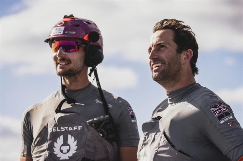 PRADA Cup Day 2: Round Robin 2 - Giles Scott and Ben Ainslie looking happy - photo © Harry KH