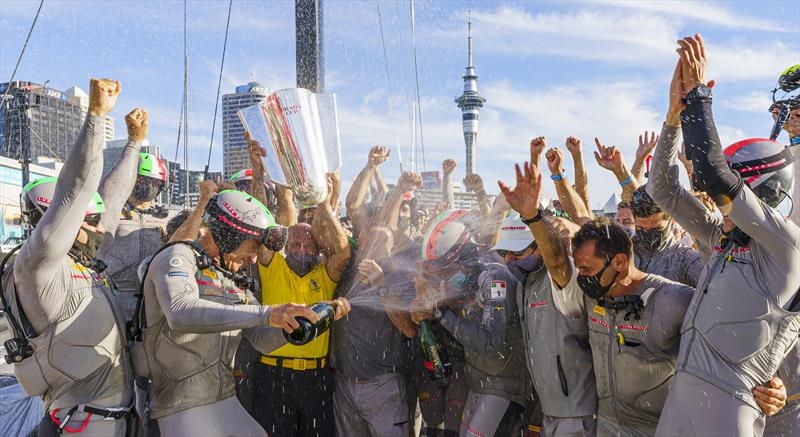 Luna Rossa Prada Pirelli team celebrate winning the PRADA Cup - photo © COR36 / Studio Borlenghi