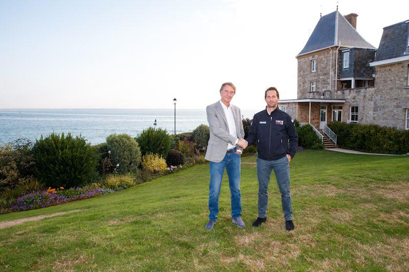 Sir Jim Ratcliffe and Sir Ben Ainslie at Cowes - photo © www.gomesphotography.co.uk
