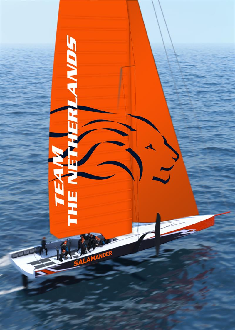 Team The Netherlands shows her new livery and name - photo © Virtual Eye