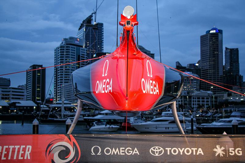 Emirates Team New Zealand launch the world's first AC75, Auckland, September 6, - photo © Richard Gladwell / Sail-World.com