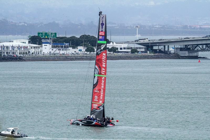 Emirates Team New Zealand - hoist mainsail - Auckland, September 11, 2019 - photo © Richard Gladwell