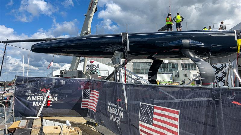 American Magic has a very different hull shape and underbody to Emirates Team NZ . - September 13, 2019 - photo © FareVela
