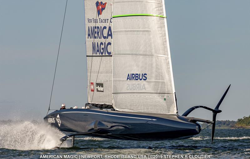 NYYC American Magic sailing off Newport RI - photo © Stephen Cloutier