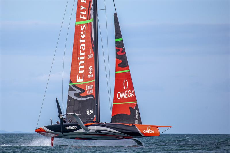 Emirates Team New Zealand's AC75 Te Aihe on the Waitemata Harbour in Auckland, New Zealand 36th Americaís Cup - photo © Emirates Team New Zealand