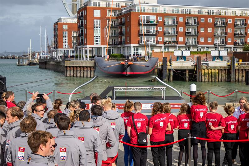 INEOS Team UK ahead of her launch in Portsmouth - photo © Cameron Gregory Media