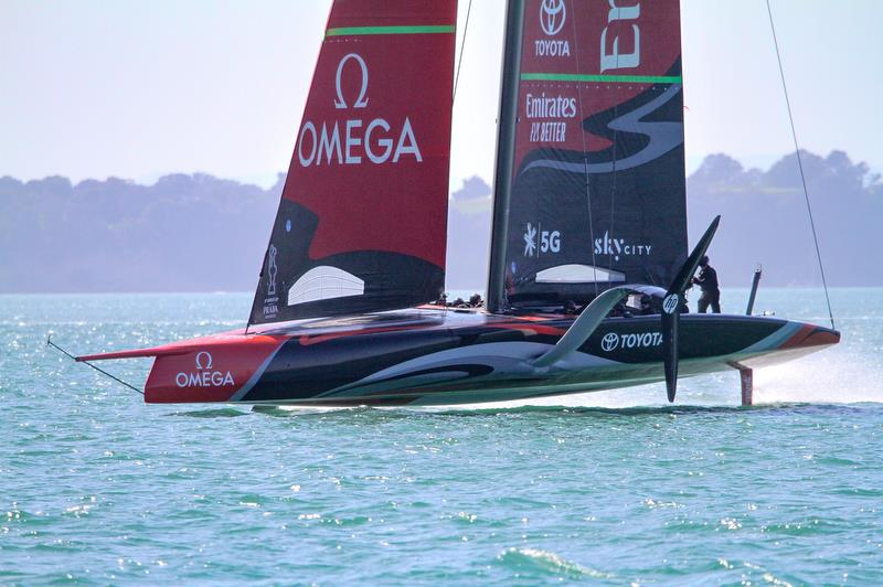 Te Aihe - Emirates Team New Zealand - Waitemata Harbour - November 4, 2019 photo copyright Richard Gladwell / Sail-World.com taken at Royal New Zealand Yacht Squadron and featuring the AC75 class