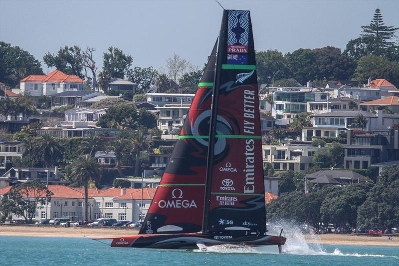 Emirates Team New Zealand's Te Aihe, Wiatemata Harbour, November 4, 2019 photo copyright Richard Gladwell, Sail-World.com / nz taken at Royal New Zealand Yacht Squadron and featuring the AC75 class