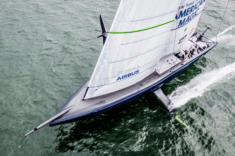 America's Cup: NYYC American Magic releases foiling tack video