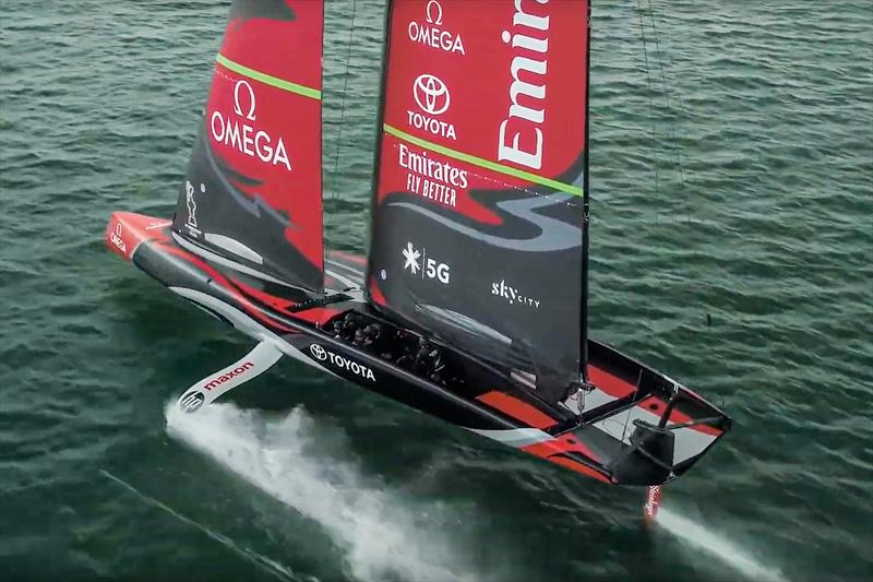 Emirates Team NZ's AC75 - December 2019 - photo © Emirates Team New Zealand