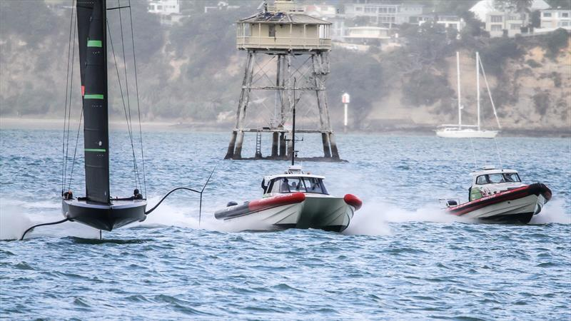 Te Kaahu - Emirates Team New Zealand's test boat - May 7, 2020 - Waitemata Harbour - photo © Richard Gladwell / Sail-World.com