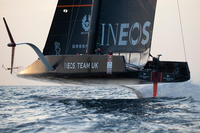 INEOS Team UK has resumed training in the Solent  photo copyright Lloyd Images taken at Royal Yacht Squadron and featuring the AC75 class
