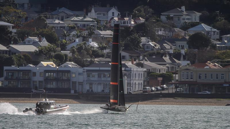 Emirates Team NZ's Test boat - Te Kahu - Waitemata Harbour, June 2020 photo copyright Richard Gladwell / Sail-World.com taken at Royal New Zealand Yacht Squadron and featuring the AC75 class