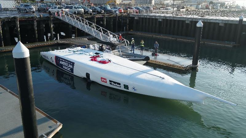 Defiant arrives at the new team base in Auckland, New Zealand - photo © America's Cup